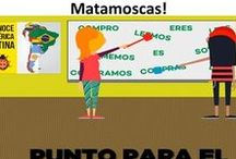 Vamos a Jugar Matamoscas / Spanish Teachers play popular matamoscas game and need a visual transition to help students behave and stay in the target language.