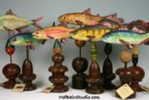 M. D. Bair Woodcarving Studio / Hand carved Fish, Figures and Whimsy