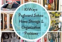 Pegging Storage and Organization / So many ways to use pegboards to maximize and multiply storage and organization in cost-effective ways, and the added bonus of being able to customize them for your needs through size, color, and style