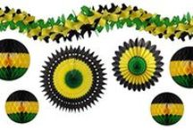 Jamaican Party Decorations / Celebrate with Jamaican themed decorations! Perfect for Jamaican Independence, Bob Marley's Birthday, or just having fun!