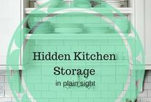 Kitchen Storage / Everyone could use more storage in the kitchen. These are some tips and hacks that can help to squeeze every possible inch of space out of your kitchen