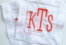 "LINENS AND MONOGRAMS / ""If it ain't moving, monogram it"""