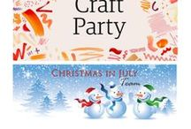Christmas in July's Etsy Craft Party 2016 / Join us on Friday June 17th, 2016 for the virtual Christmas In July's Etsy Craft Party - #EtsyCIJ #EtsyCraftParty! It will be held on our blog: http://etsychristmasinjuly.wordpress.com/. The theme this year is Color Inspiration!