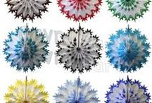 Tissue Paper Snowflake Decorations / Tissue Paper Snowflake Decorations for themed birthday parties, seasonal retail displays, holiday events, and home decor.