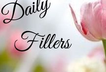 Daily Fillers / Welcome! Filler pins and themes to use on your main boards or inspiration for new boards. No pin limits, take and add as much as u like :) if u would like to join pls message me