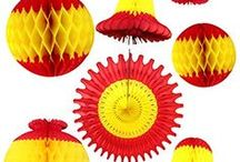 Chinese New Year Party Decorations - Red Yellow / Decorate parties, events, and displays with a red and yellow color scheme