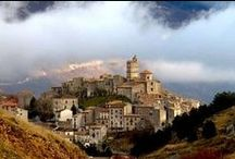 Places in Abruzzo interiors  / Pictures of landscapes and villages of Abruzzi in Italy.  Abruzzi, also called Abruzzo, is a land/region in central Italy and lies between the Apennines slopes ( Gransasso ) and the Adriatic Sea. A wide range of beaches, ski slopes, nature parks, art towns, medieval churches, castles and museums.