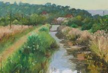 Fran's paintings / Oil paintings completed en plein air.