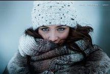 Winter scarfs, coats & hats shoot / Winter scarfs & hats