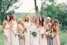 BRIDESMAIDS / Dresses, Hair and Bachelorette party ideas