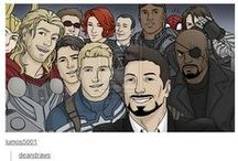 The Avengers / The Avengers, Loki, Spiderman, Wolverine, Deadpool, X-Men,  SHIELD, MARVEL, the actors and dare I say it...Hydra... -_- (But mostly The Avengers) ^_^ / by Allyah Howard