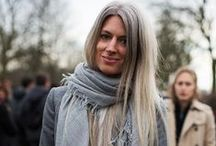 Sarah Harris / For a long time I did not even know her name. But very often I liked street style pictures of her. Her hair color is a standout and her style effortless! Thumbs up for Sarah Harris from British Vogue! Find my favorite Sarah Harris looks on this pinboard!