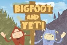 Bigfoot and Yeti - children's picture book / Bigfoot and Yeti is an exciting new picture book aimed at children aged 3-6 years old. It tells the tale of two strange mythical creatures bumping into each other for the very first time. Can they be beast friends forever?