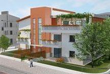Residenza Green Living / Innovativa mini palazzina Interamente costruita in LEGNO Certificata ARCA GOLD Immerso nel Parco Urbano Domotica Integrata  www.archetiposrl.com