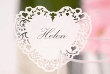 Wedding - Vintage Romance White & Silver / Wedding stationery, tableware and decorations in classic a white & silver design.