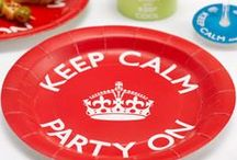 Party - Keep Calm and Party / Keep calm party tableware, decorations and accessories.