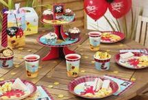 Dino Island / This vibrant party collection combines the popular themes of pirates and dinosaurs across everything from plates to bunting.