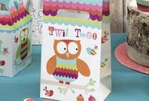 Birthday - Tree Top Friends / Owl birthday party tableware and accessories.
