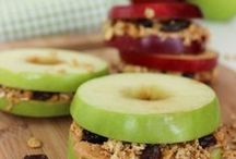 Healthy Snacks for Kids / Eating healthy is important for everyone, but especially for children. We're pinning fun, healthy snacks kids will love. We focus a lot on Sensory Foods for OT too. #healthysnacks #kidsfood