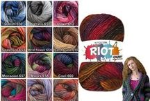 King Cole Riot DK, Chunky & Splash Shades / Yarn used by Lyubava for her patterns