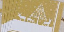 Christmas - Winter Wonderland / Our stylish Winter Wonderland collection features a festive scene with stunning reindeer illustrations, perfect for dinner parties and Christmas celebrations.