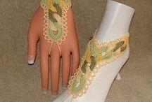 Crochet Barefoot Sandals & Slave Bracelets