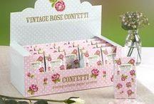 Wedding - Vintage Rose / Vintage themed wedding tableware and decorations.