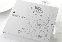 Wedding - Elegant Butterfly White & Silver / Wedding stationery, decorations and tableware in classic white and silver.