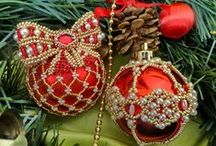 Christmas & New Years Ornaments / Free Patterns & Inspirations photos / by Beads Magic