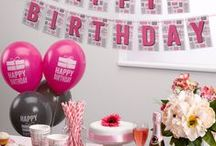 Happy Birthday / Happy Birthday is perfect for adults and teens featuring party essentials in pink and blue.