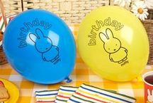 Miffy Birthday - Party Collection / Our new party collection with the world's favourite baby bunny Miffy is the perfect choice for birthday parties and baby celebrations. Loved by children for over 60 years, the range is popular with guests young and old, featuring beautiful Miffy illustrations in their characteristic colour scheme.