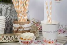 Time for Tea - Party Collection / Soft watercolour flowers adorn this pretty collection, ideal for Spring and Summer celebrations. Time for Tea offers all your party essentials and is the perfect theme for afternoon tea parties, gorgeous garden parties or birthdays.