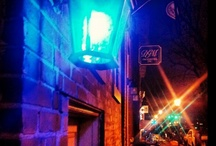 """PX / Take a stroll up genteel King Street in the DC suburb of Alexandria and look for a blue light; if it's lit, or if the pirate flag is flying, the PX Lounge is open. This 1920s-style """"speakeasy"""" is all about high-end glamour and innovative cocktails."""