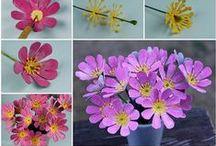 fiori stoffa o carta