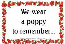 Poppies Buddy Poppy /  Poppies Education Remembrance Day Veterans day Buddy Poppies / by Lynne Spencer