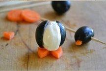 Cream Cheese Olive Penguins