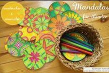 Mandalas zum Ausdrucken (Ausmalbilder) / Mandalas zum Ausdrucken und Ausmalen! Simple Mandala Patterns | Simple Mandala Coloring Page For Kids  | Free Printable  Für Kinder in Kindergarten und Schule! Inspiriert von den Schönheitsformen der Baustein-Mandalas nach dem Pädagogen Friedrich Fröbel.