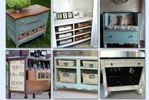 DIY Upcycle / Repurposing furniture from around to house to go with your shabby chic decor.  Whether it be an upcycled armoire, dining room server, or dresser for your kids room, you'll find plenty of ideas to repurpose furniture for cheap!
