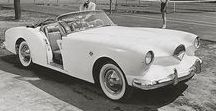 """Darrin Kaiser 161 / The Kaiser Darrin 161, also known as the Kaiser Darrin , was an American sports car designed by Howard """"Dutch"""" Darrin and built by Kaiser Motors in 1954.  first American car equipped with a fiberglass body and doors that slid on tracks into the front fender wells."""