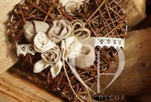 Wicker hearts / wooden hearts 