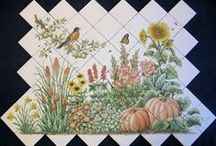 Hand Painted Tiles, Tile Murals, Decorative Tiles by Julia / Custom hand painted tile with unique designs for kitchen, backsplash, bathroom, shower, wall decorating and remodeling projects from tile painting artist Julia Sweda, ArtworksbyJulia.com