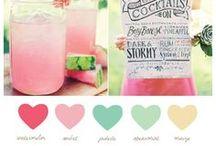 Farve inspiration til brylluppet // Wedding color schemes