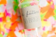 Neon Inspiration / Go bold and bright with neon colors at your wedding.