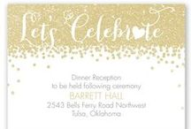 Glitz & Glamour / Plan a wedding that shimmers and shines. Glitter, Metallic, Bling, and more!