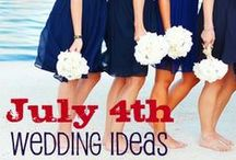 Red, White, & Blue: I Do! / Whether you're getting married on July 4th, Memorial Day weekend, or just having a rustic Americana theme, follow this board for all things patriotic.