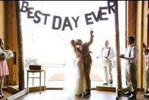 Typography / From big and bold to sassy script, typography can make a statement at your wedding.