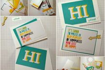 Project Life note card hacks / Projects using PL by SU journaling cards and accessories to create cards or alternate projects