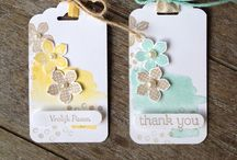 SU Tag Topper Punch / Projects made using tag punches by Stampin' Up!
