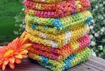 Crochet dishcloths & Kitchen Towel
