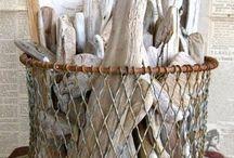 rústico / Arte y objetos con maderas recogidas de las playas del lago General Carrera